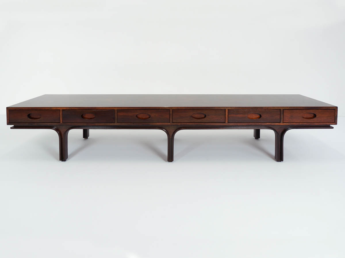 6 Drawers center Coffee Table or Bench in Jacaranda