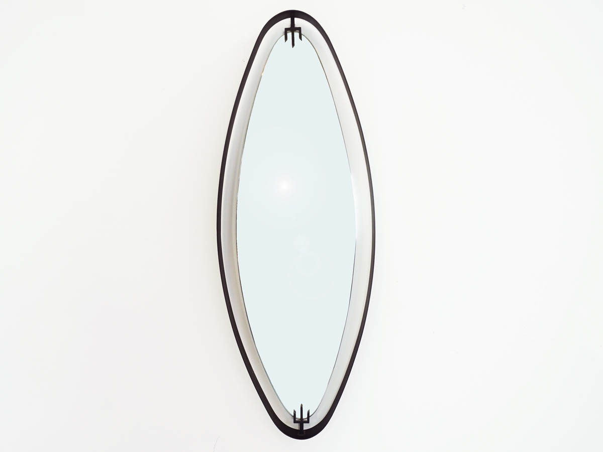 Mirror with Black Metal Ribbon Clip-On Arrow