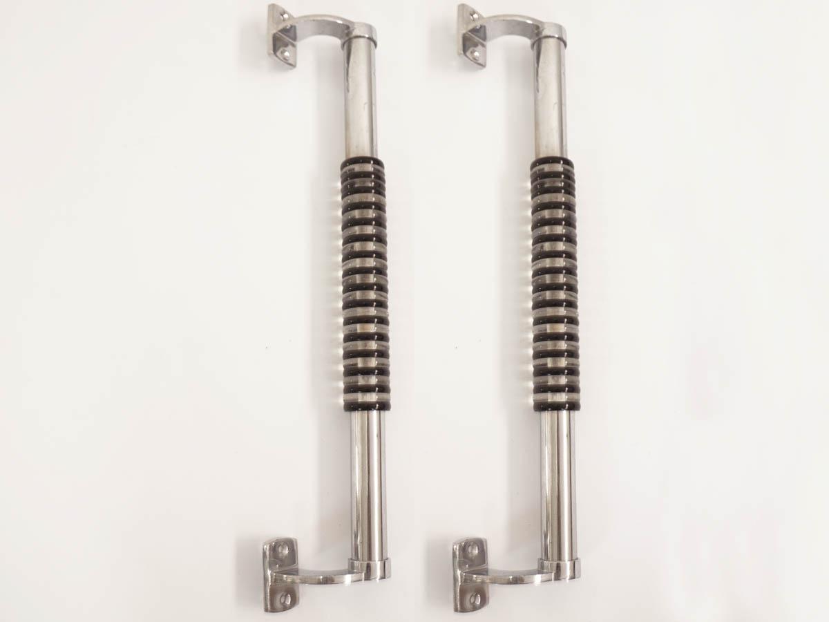 Pair of Big Steel Stripes Door Handles