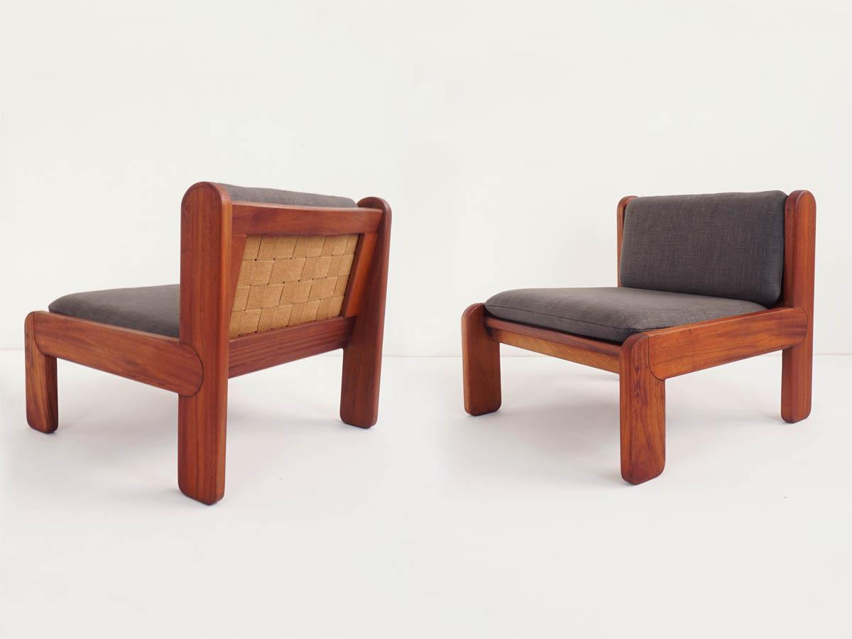 8 Jacaranda massive lobby chairs mod. Campone