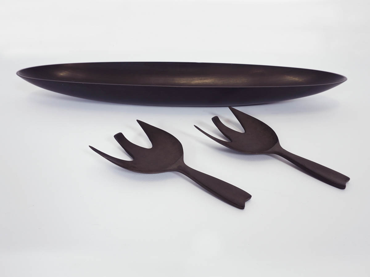 Black Melanine Salad Set