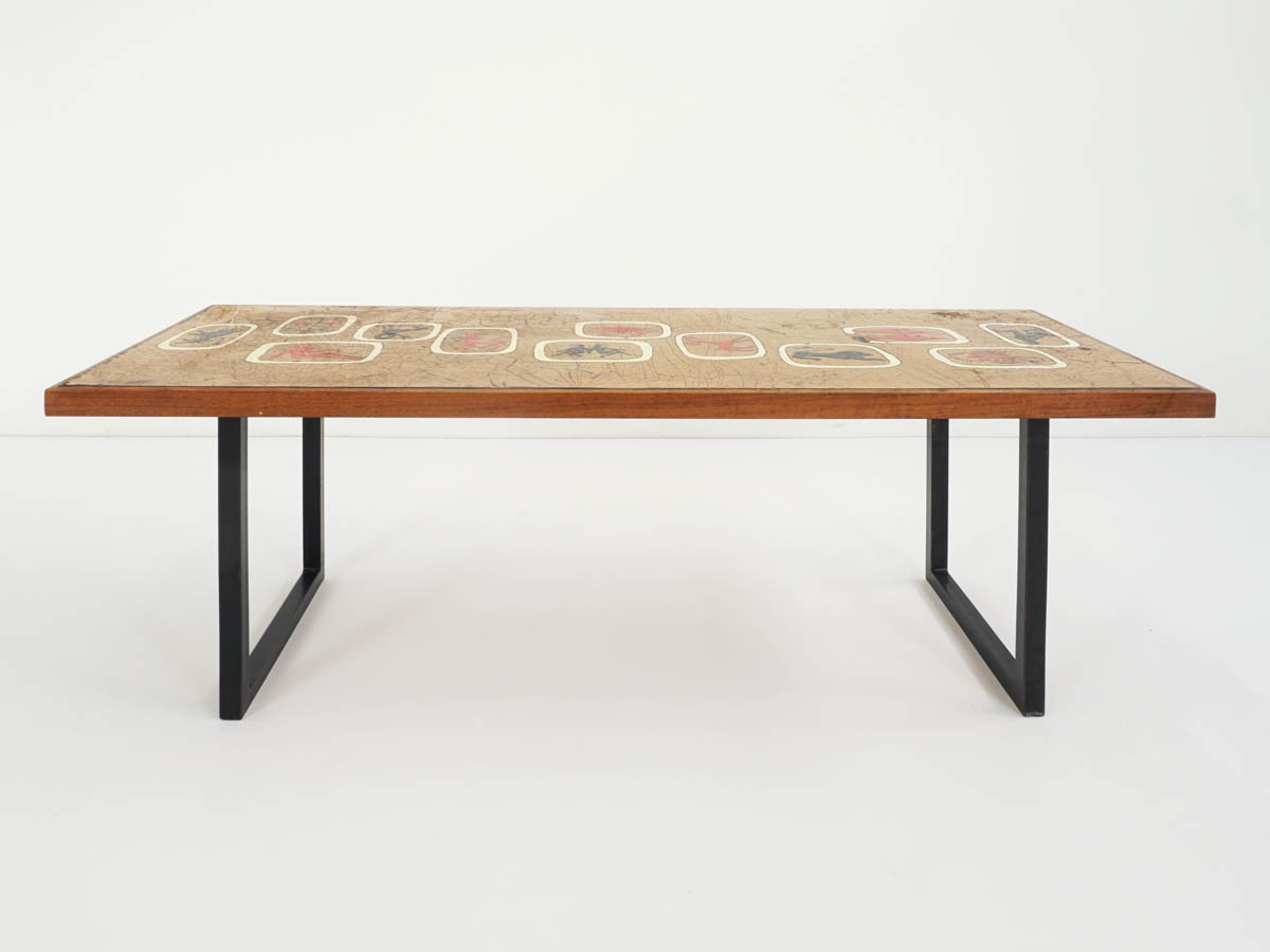Gold enameled Zodiac Coffee Table