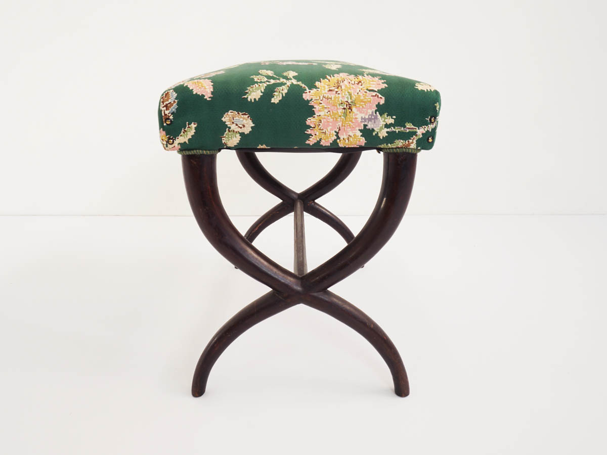 Large Stool with Crossed Legs
