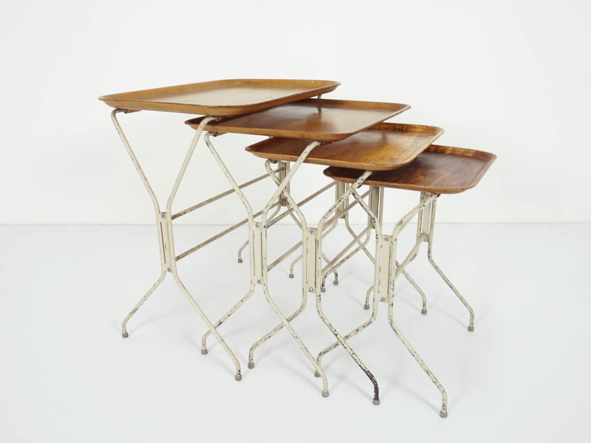 Set of 4 Plywood Nesting Tables