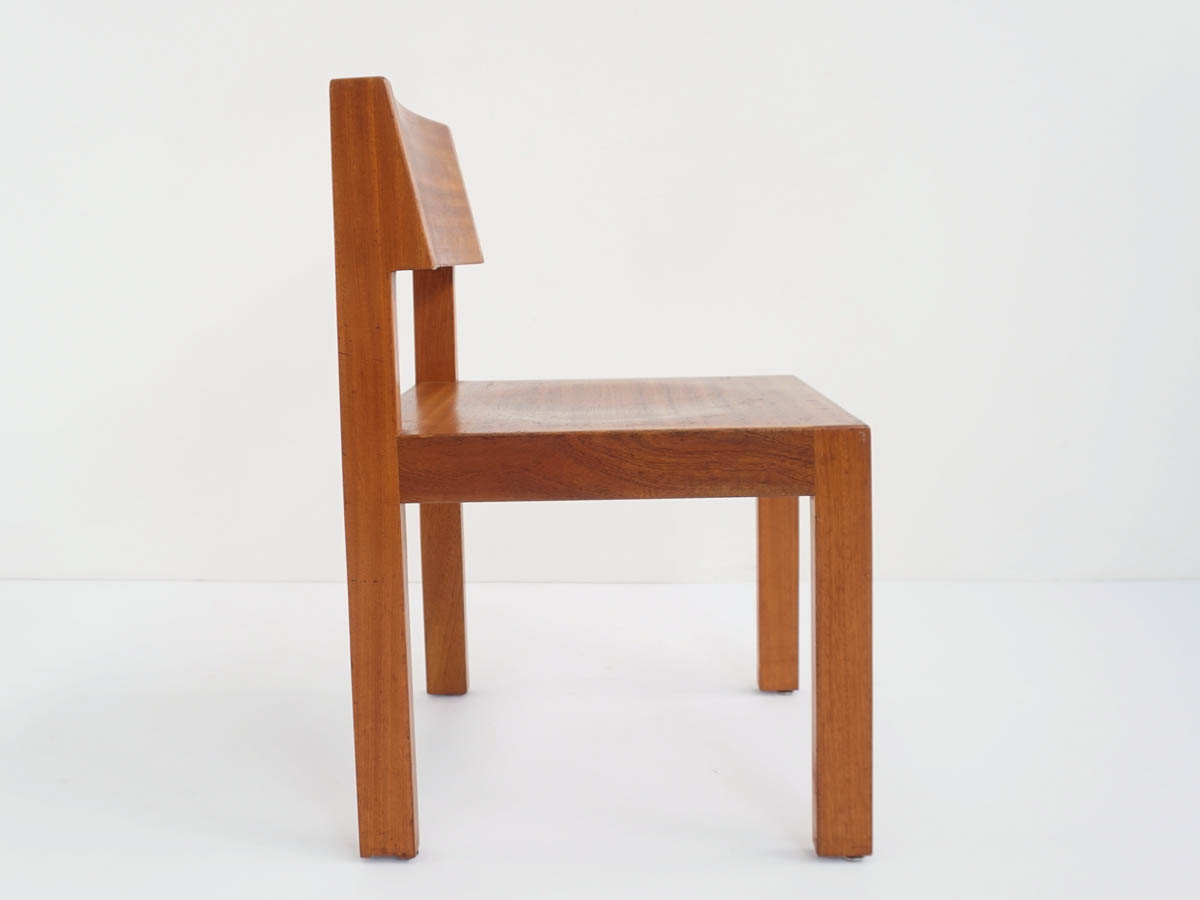 9 Swiss Architectural Chairs in Massive Wood