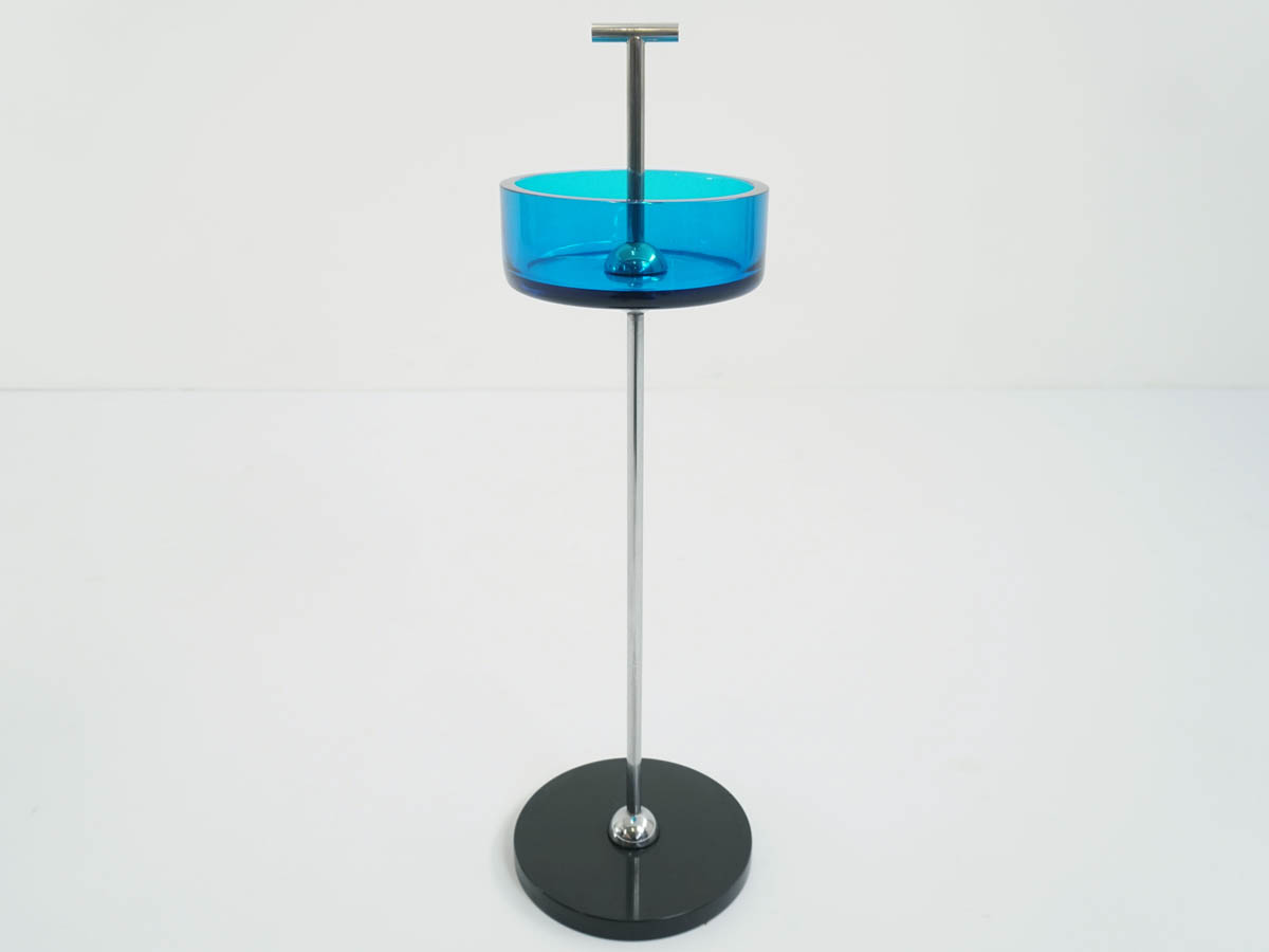 Blu Glass Standing Tray or Vide-Poche