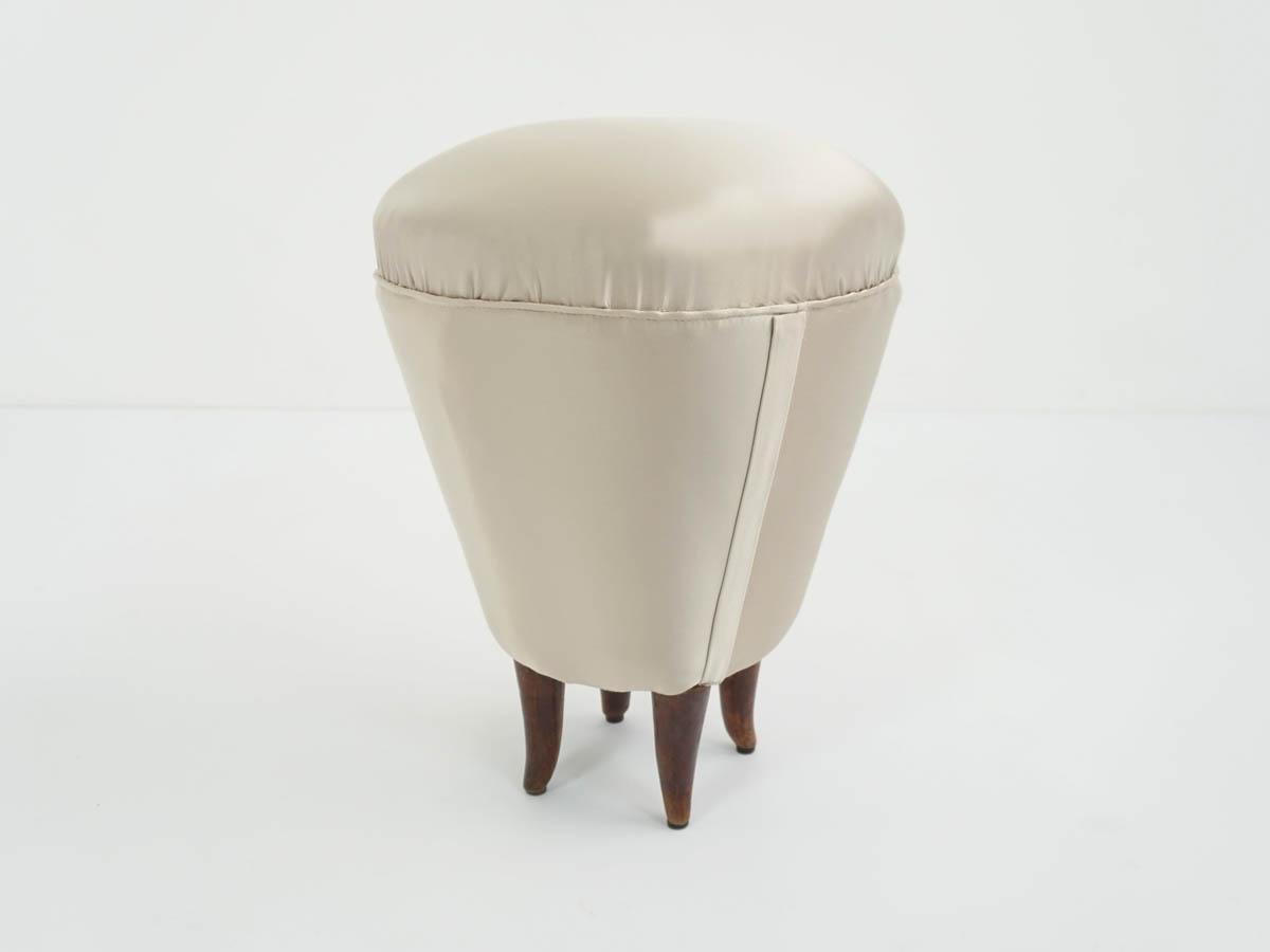 Satin vanity stool