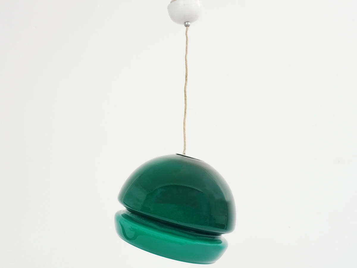 Deep Green Glass Alf Ball Light