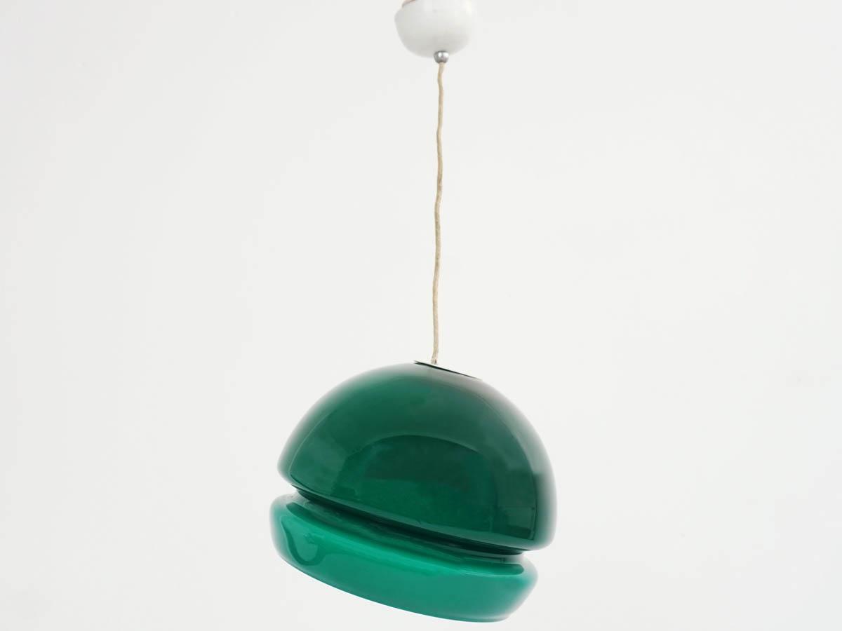 Deep Green Glass Alf Ball Light