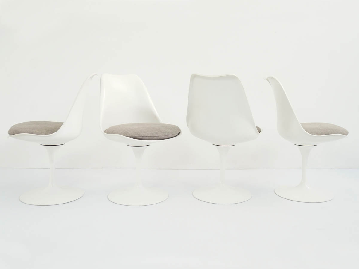 4 Tulip Rotating Dining Chairs
