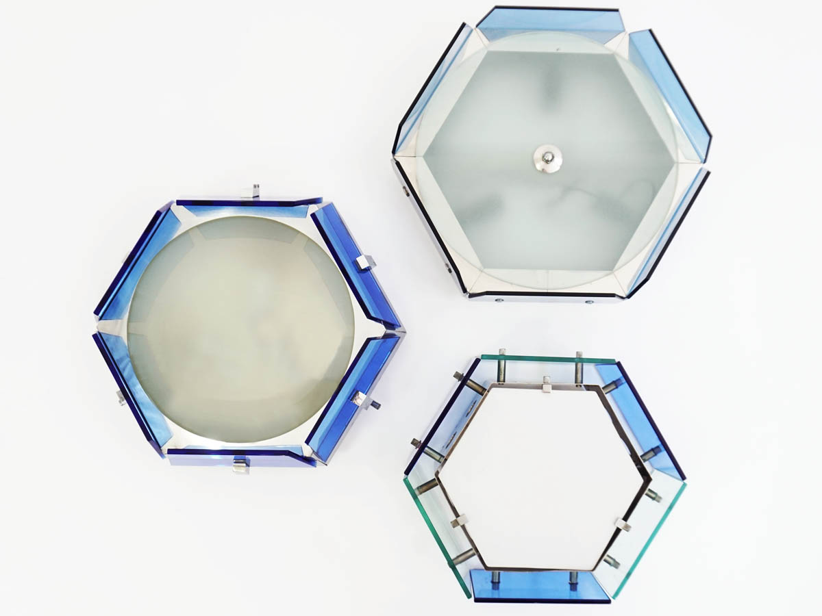Blu glass Sconces of Flush Light