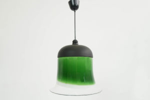 1960 Green Glass Cone Light