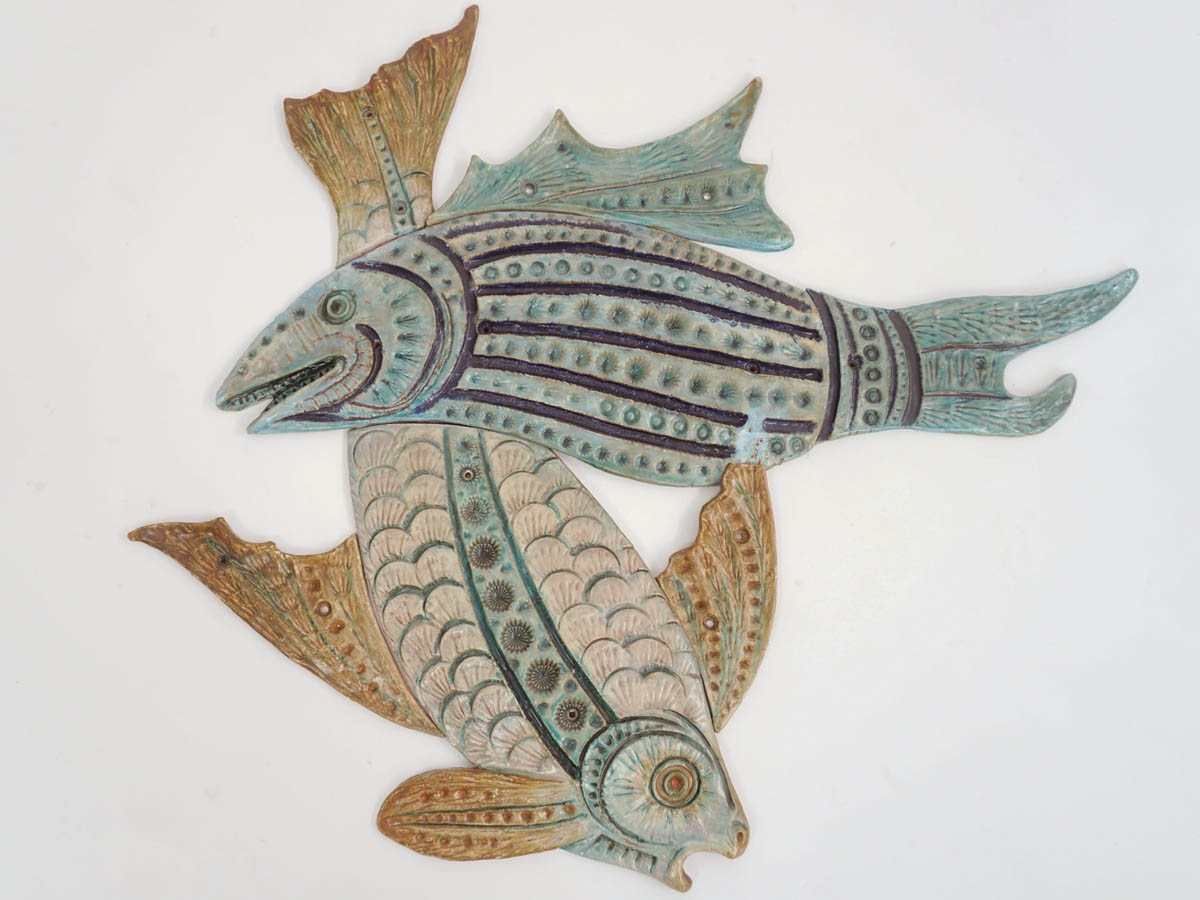 Big Ceramic Fishes for Wall Decoration