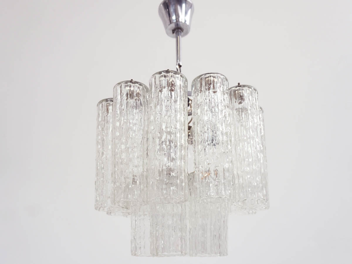 "Glass Tubes Chandelier ""Tronchi"""