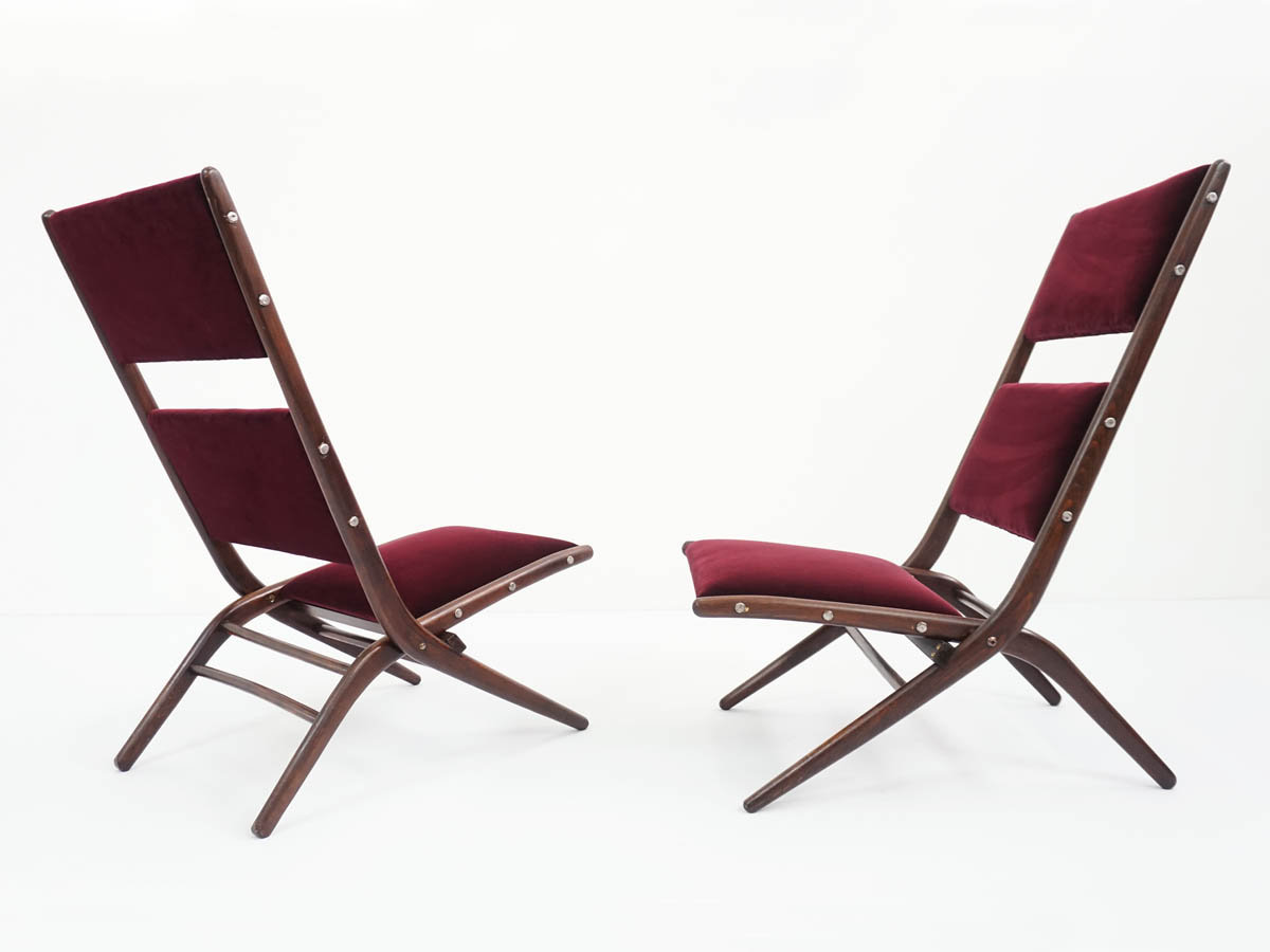 Pliable lounge chairs mod. Congo