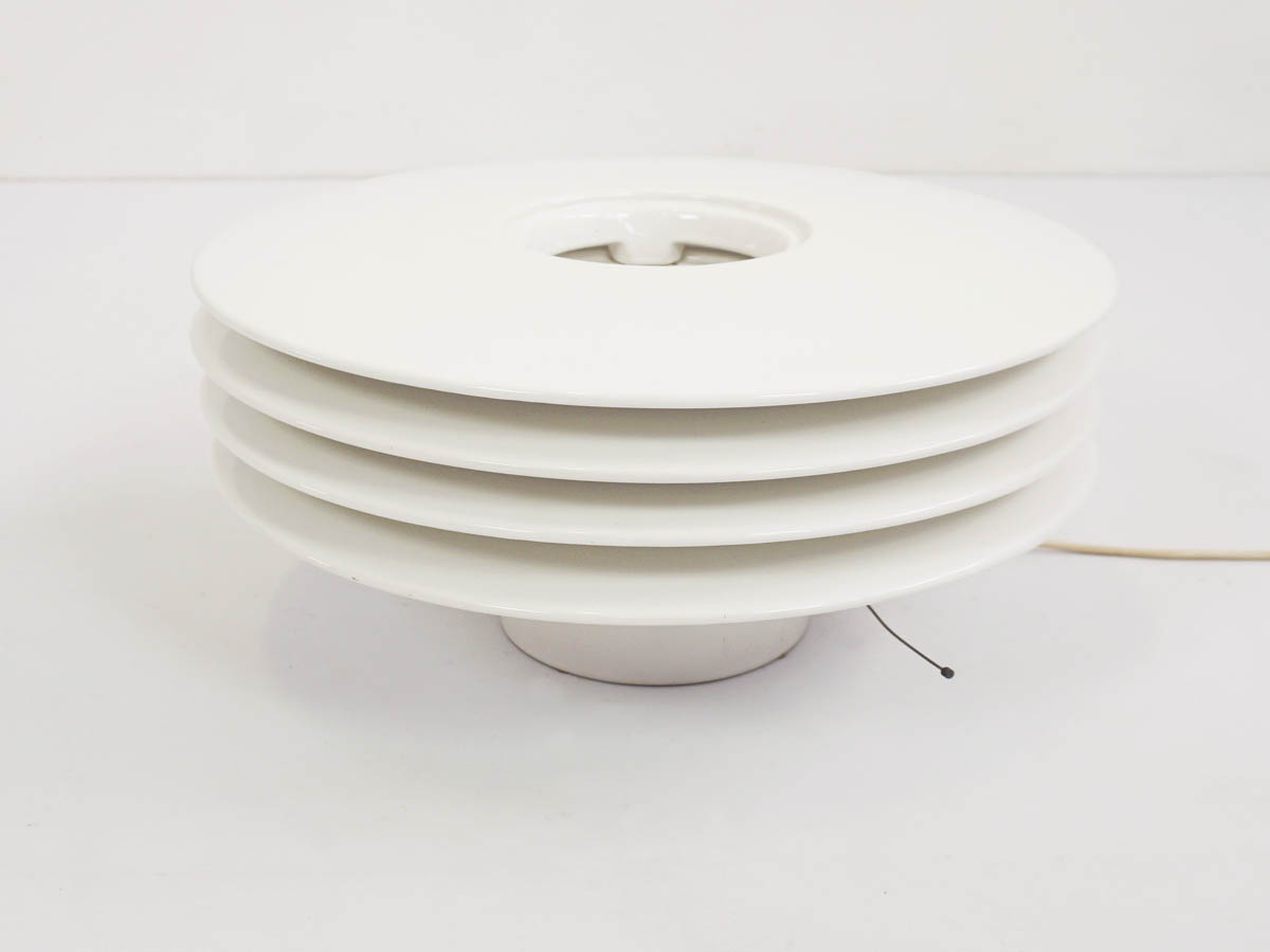 Architectural White Ceramic Lamp mod. Dinamo