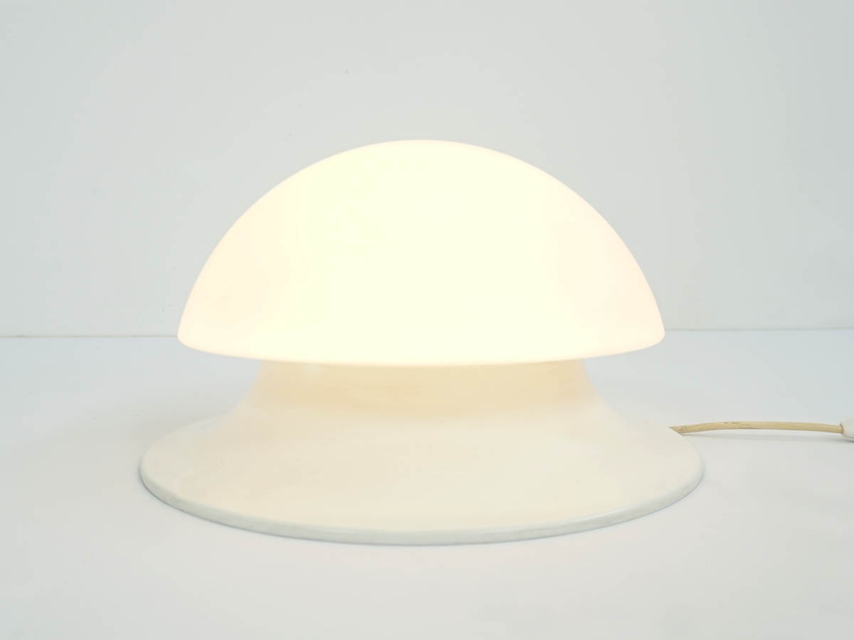 Space Age Italian Milk Glass Bubble Floor Lamp