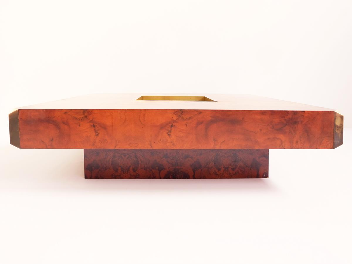Coffeetable–bar mod. Alveo in stunning Burl wood