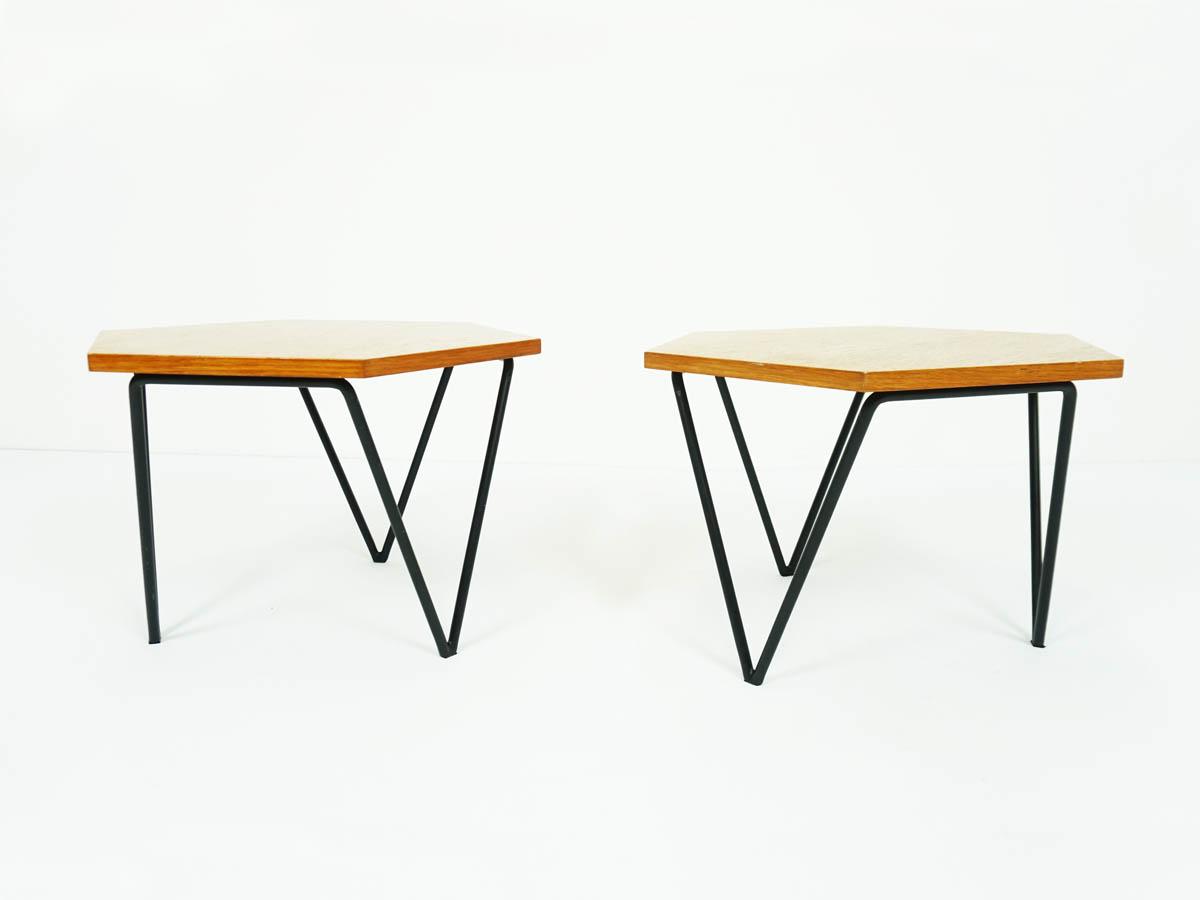 Tavolini modulari esagonali in legno di Frassino