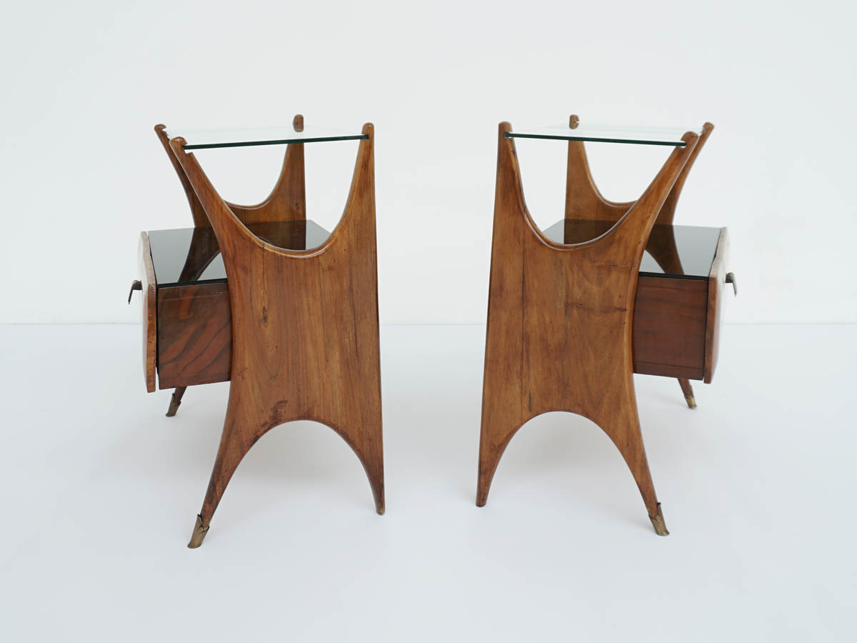 1950, Stunning Italian Design Bed Side Tables
