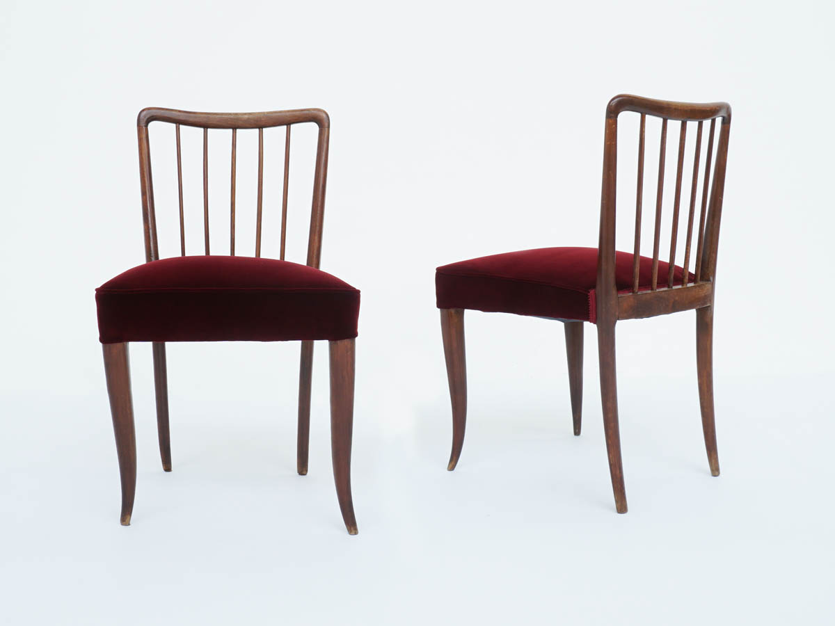 Pair of Chairs with Sticks Backrest
