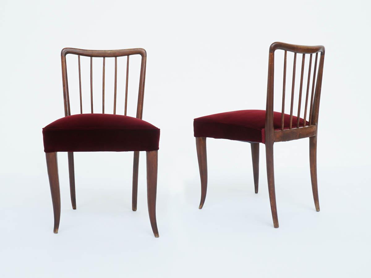 """Paire de Chaises avec Dossier """"Grissini"""""""