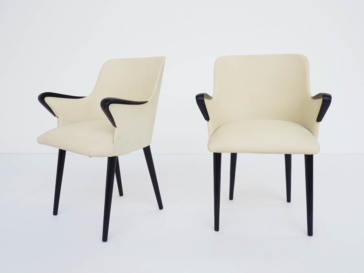 Pair of Iconic Small Armchairs mod. P38