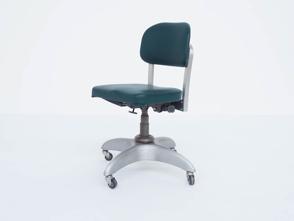 Swivel chair, model no. 1938 Montecatini Offices, Milan