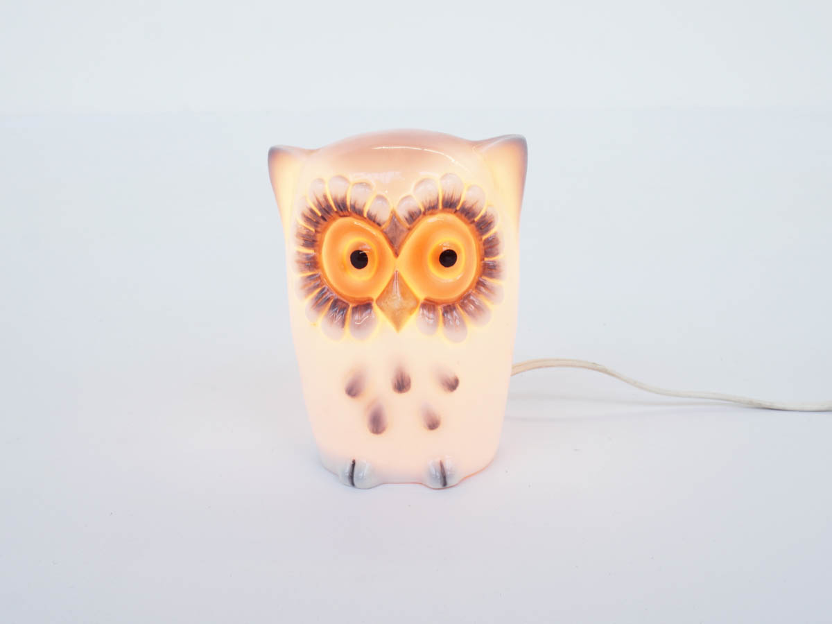 Ceramic Night Light Owl for Child