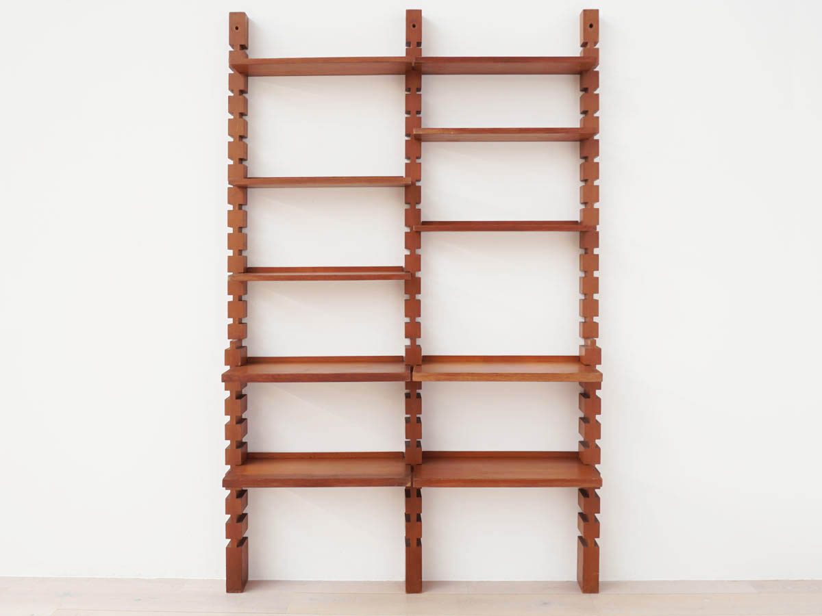 Bookcase Wooden Interlocking Modular Shelves