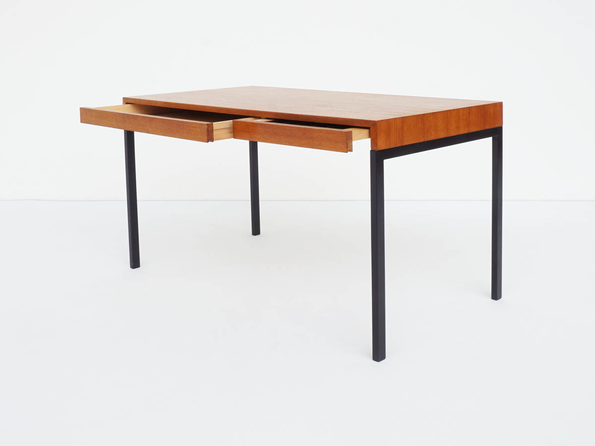 Teak Small Desk in Swiss Minimalist Design