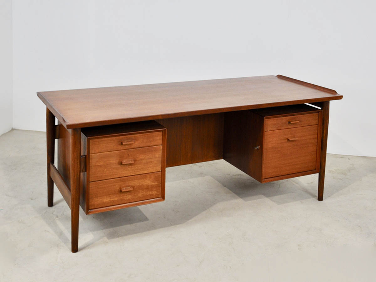Scrivania Danese Executive in Teak, 1960