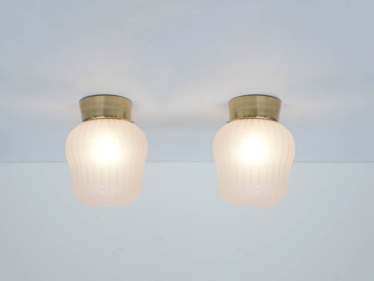 Pair of Elegant Flush Mount Lights, Austria 1940