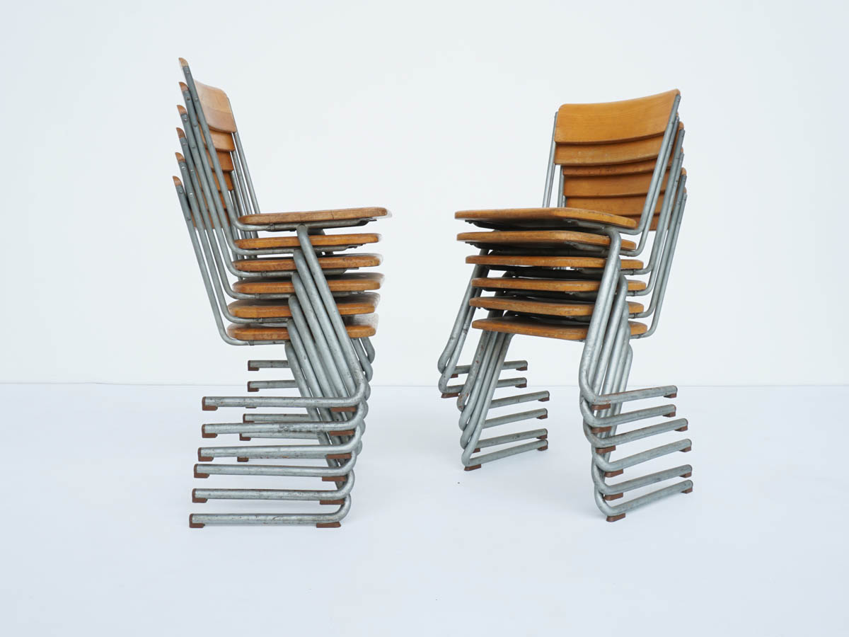 Stackable Chairs Bauhaus School, 1930 Germany
