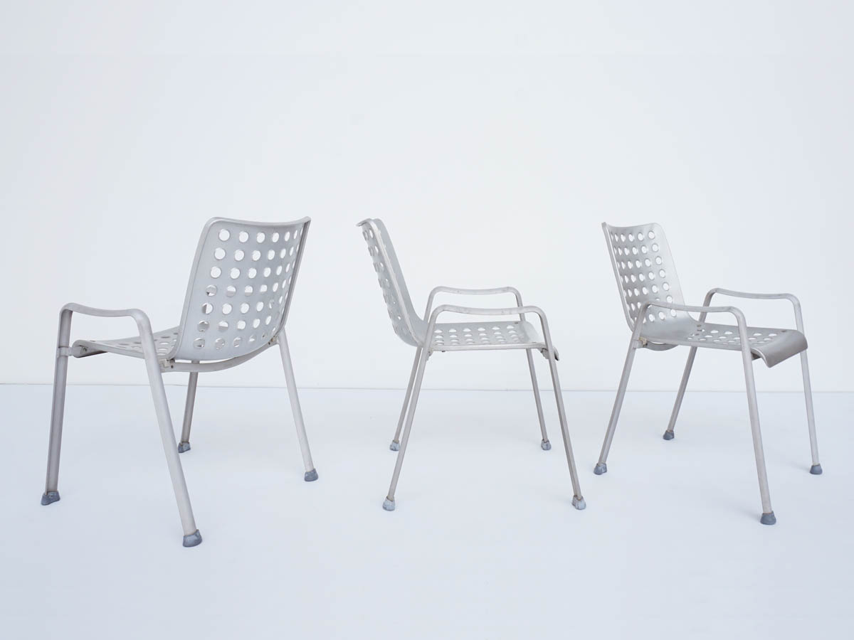 3 Outdoor Chairs in Aluminium mod. Landi Stuhl