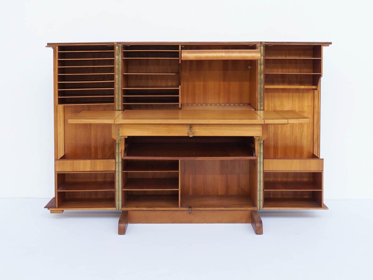 Folding Desk Convertible in a Closed Box Cabinet