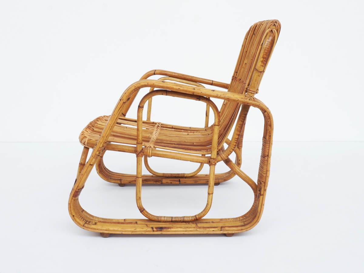 Italienischer Design-Bambus-Sessel