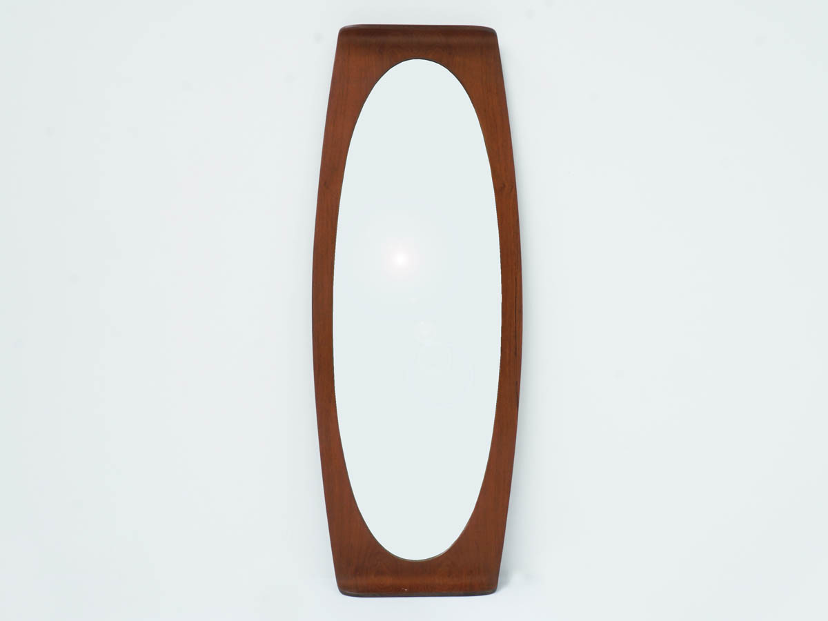 Oval Curved Plywood Mirror