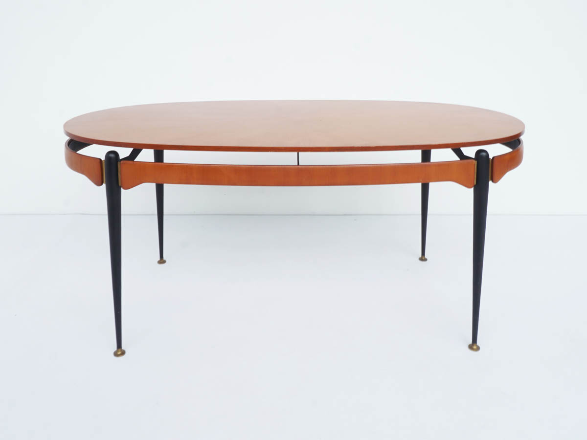 Oval Table or Desk with Suspended Top