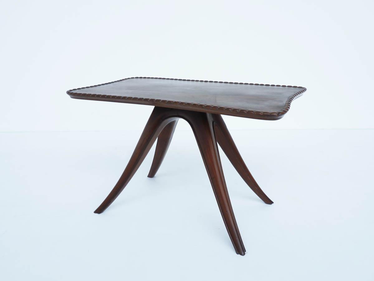 Elegant Italian Rosewood Coffee Table