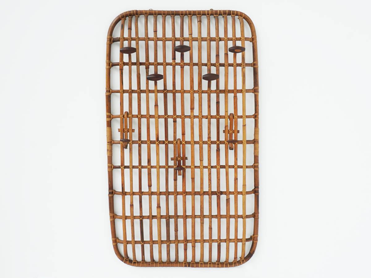 Suspended Bamboo Coat Rack