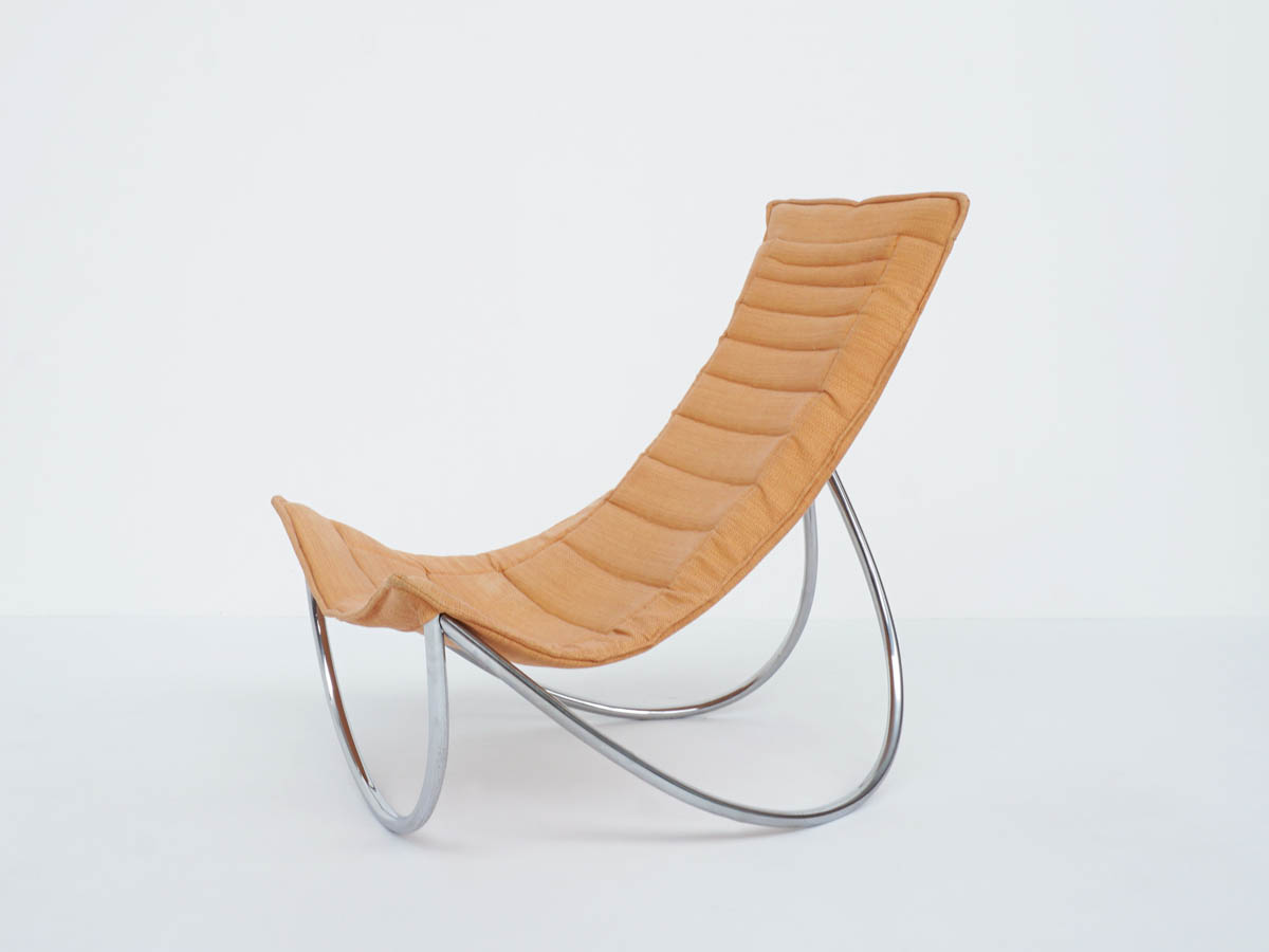 Space Age Tubular Steel Armchair with Architectural Shape