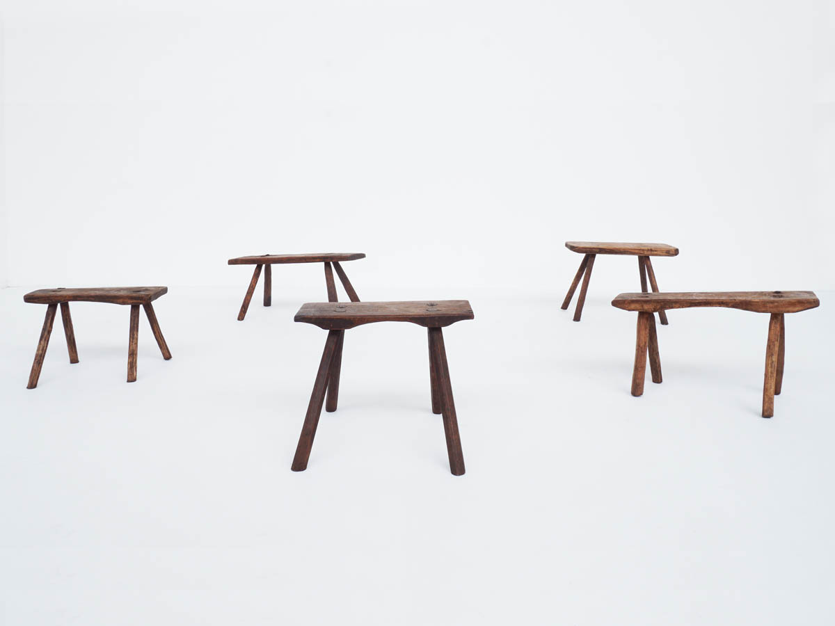 Primitive Stools in Solid Wood