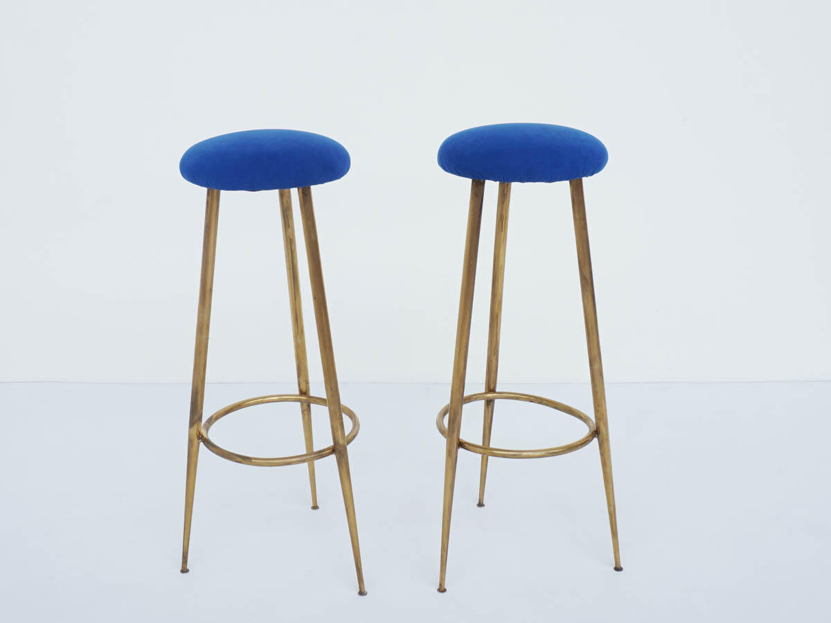 Pair of High Stools in Brass