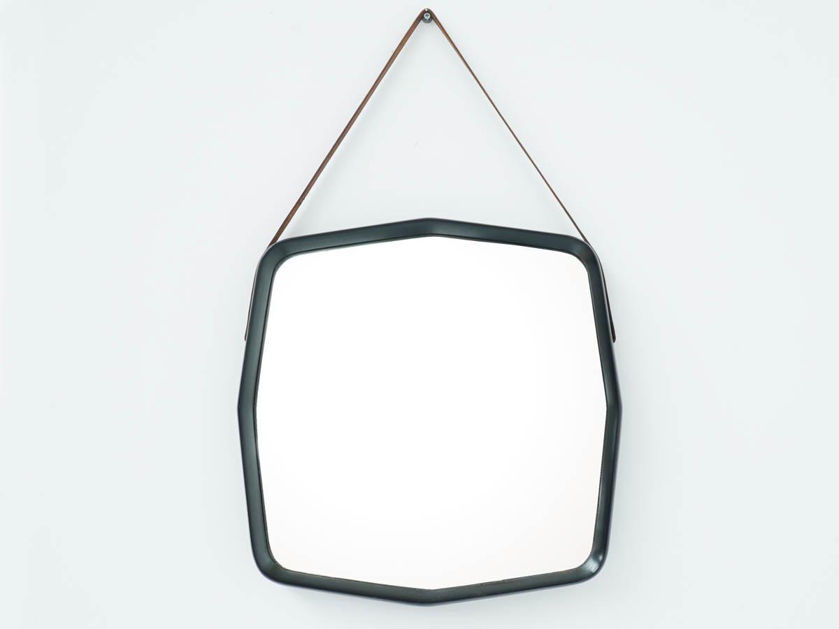 Octagonal Wood Mirror, Italian production